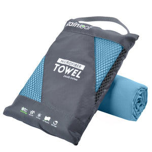 Rainleaf Microfiber Towel Perfect Sports & Travel &Beach Towel. Fast Drying - Super Absorbent - Ultra Compact. Suitable for Camping, Gym, Beach, Swimming, Backpacking