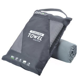 Rainleaf Microfiber Towel Perfect Sports & Travel &Beach Towel. Fast Drying - Super Absorbent - Ultra Compact. Suitable for Camping, Gym, Beach, Swimming, Backpacking.Gray