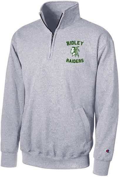 Adult Gray Raider Head Champion 1/4 Zip