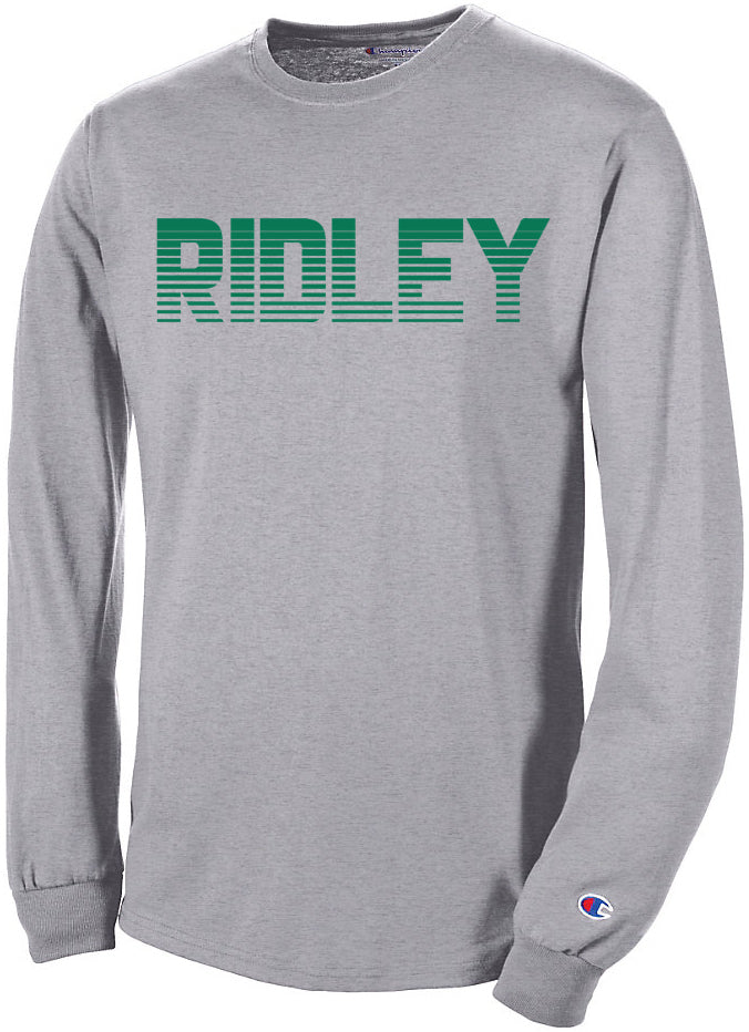 Adult Champion Gray Fading Ridley Long Sleeve T-Shirt