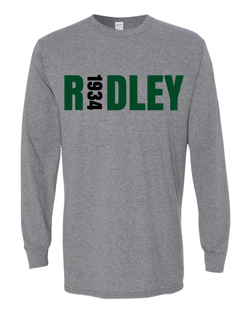 Adult Ridley Gray Long Sleeve T-Shirt