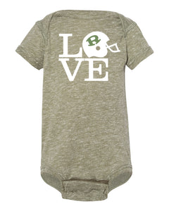 Infant Military Green Love Ridley Onesie