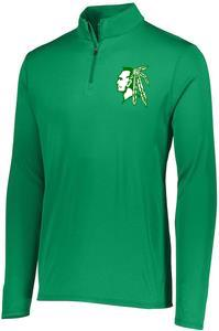 Women's Green Raiderhead 1/4 Zip