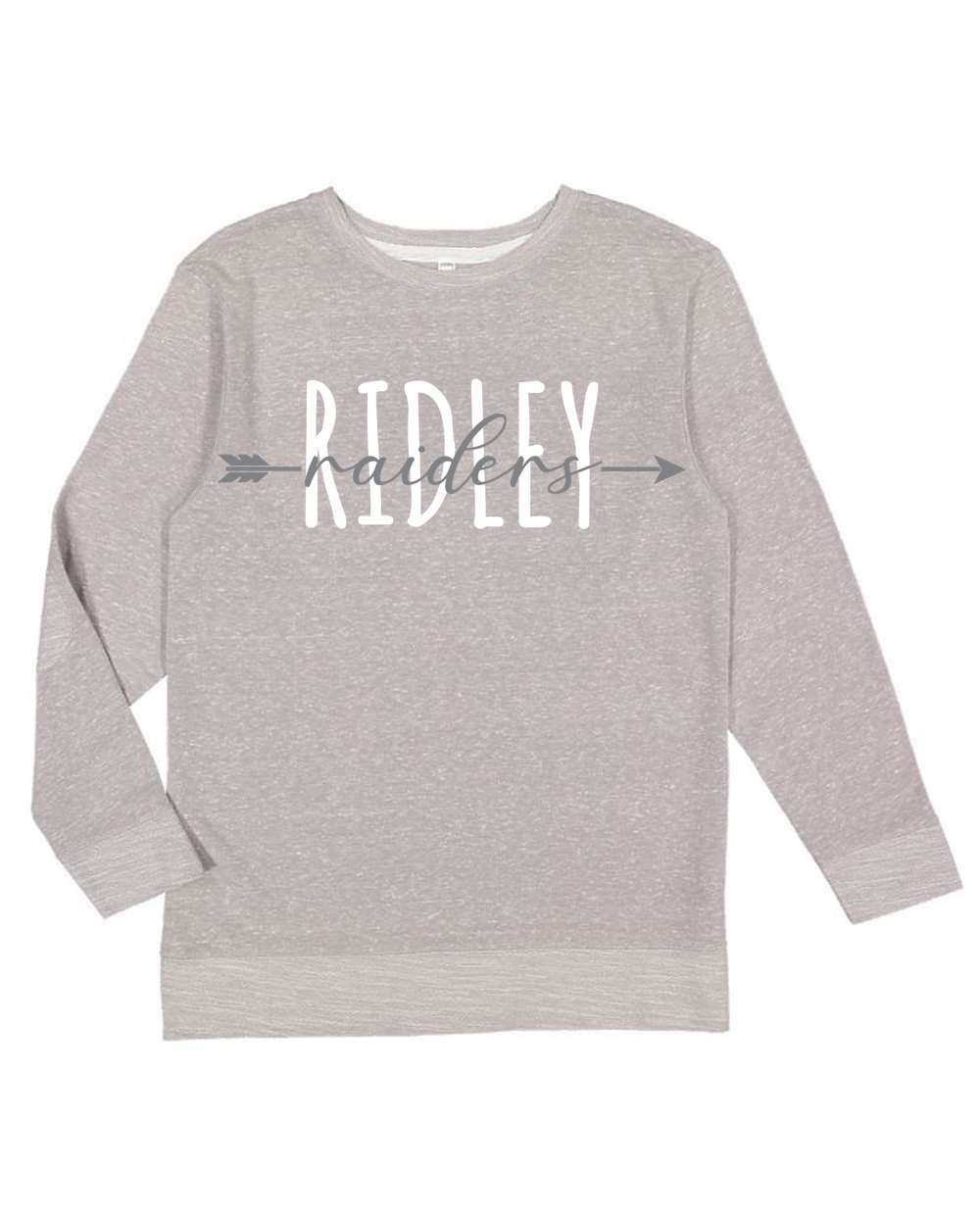 Youth Gray Melange Crewneck