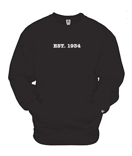 Est. 1934 Black Crewneck with Pockets
