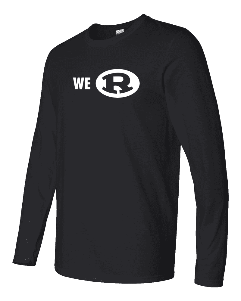 "Adult Black ""We R"" Long Sleeve T-Shirt"