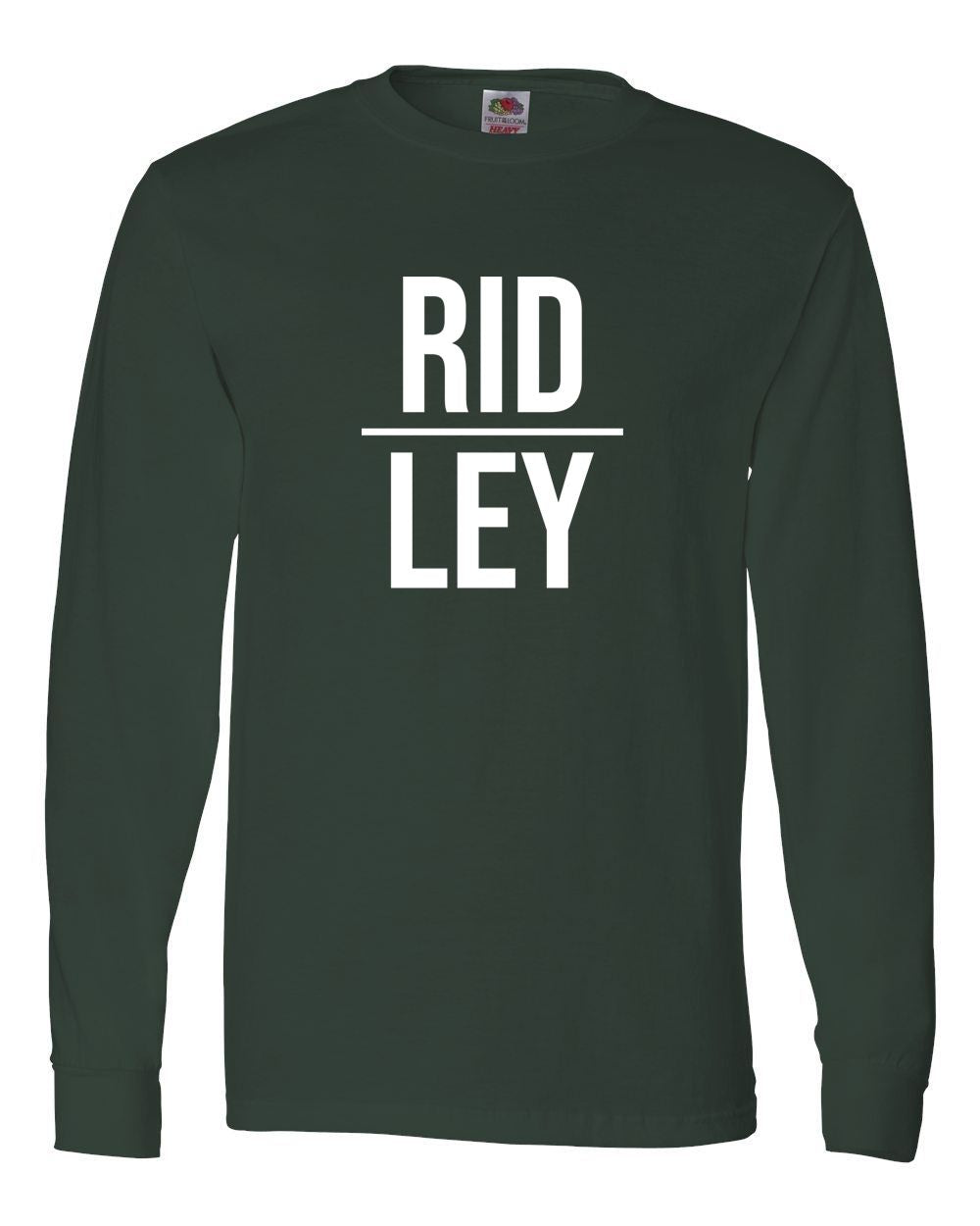 Adult Green Ridley Long Sleeve T-Shirt