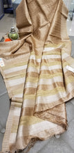 Load image into Gallery viewer, Golden Beige Handwoven Pure Tussar Silk