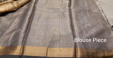 Load image into Gallery viewer, Off-white Handwoven Pure Tissue Tussar Silk