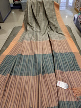 Load image into Gallery viewer, Khadi Tussar Silk with stripes on body