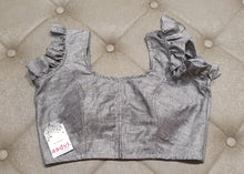 Load image into Gallery viewer, Silver Grey Designer Blouse - Front Side