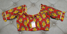Load image into Gallery viewer, Yellow on Earth Designer Blouse with Traditional Print - Front Side