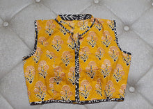 Load image into Gallery viewer, Mustard Yellow Designer Blouse - Front Side