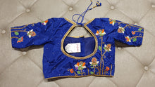 Load image into Gallery viewer, Royal Blue Color Hand Embroidered Designer Blouse