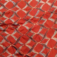 Load image into Gallery viewer, Red Ajrakh Print Modal Silk Fabric