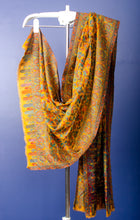 Load image into Gallery viewer, Pure Pashmina mustard yellow colour woven Kani stole