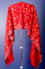 Load image into Gallery viewer, REDDISH PINK COLOUR PASHMINA WOVEN KANI STOLE