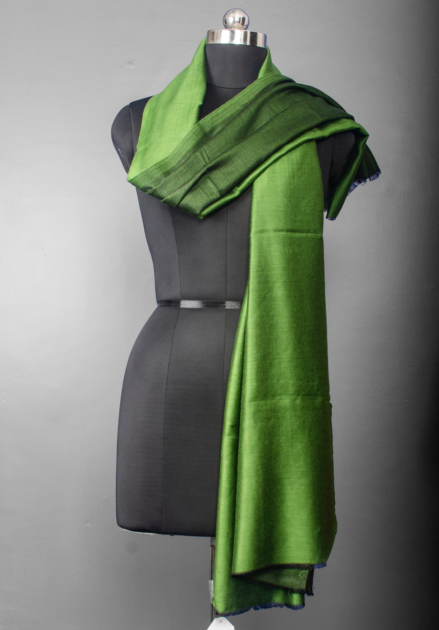 Juniper Green Reversible Silk Stole