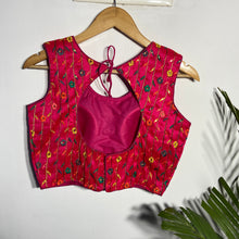 Load image into Gallery viewer, Ruby Pink Blouse With Multi Colour Embroidery