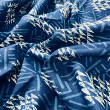 Load image into Gallery viewer, Geometric Pattern Indigo Hand Block Print Cotton Fabric