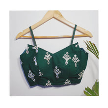 Load image into Gallery viewer, Green Designer Blouse with Silver Gota Patti Work