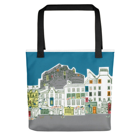Tote bag Edinburgh Castle and Grassmarket