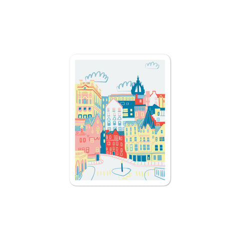 Edinburgh Illustration stickers