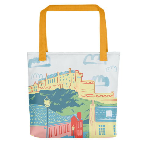 Edinburgh Castle (Through the Vennel) Tote bag