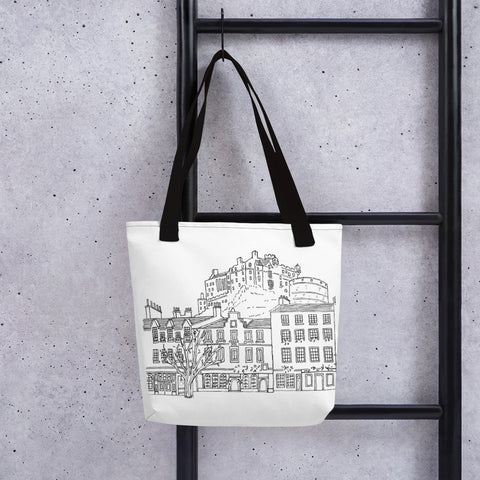 Tote bag Edinburgh Castle Ink Drawing