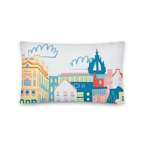 Edinburgh Illustration Pillow