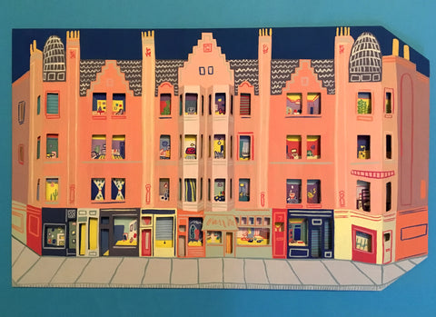 Original Shops and Flats Painting