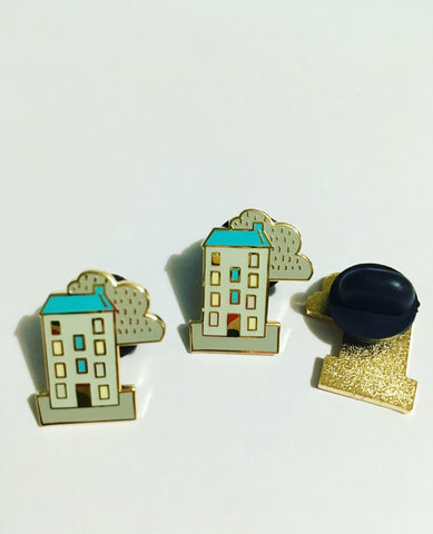 Winter Tenement Pin