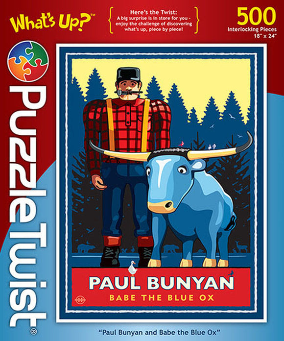 Paul Bunyan and Babe 500 Piece Puzzle