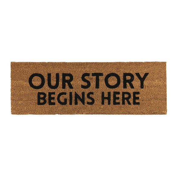 Our Story Welcome Mat