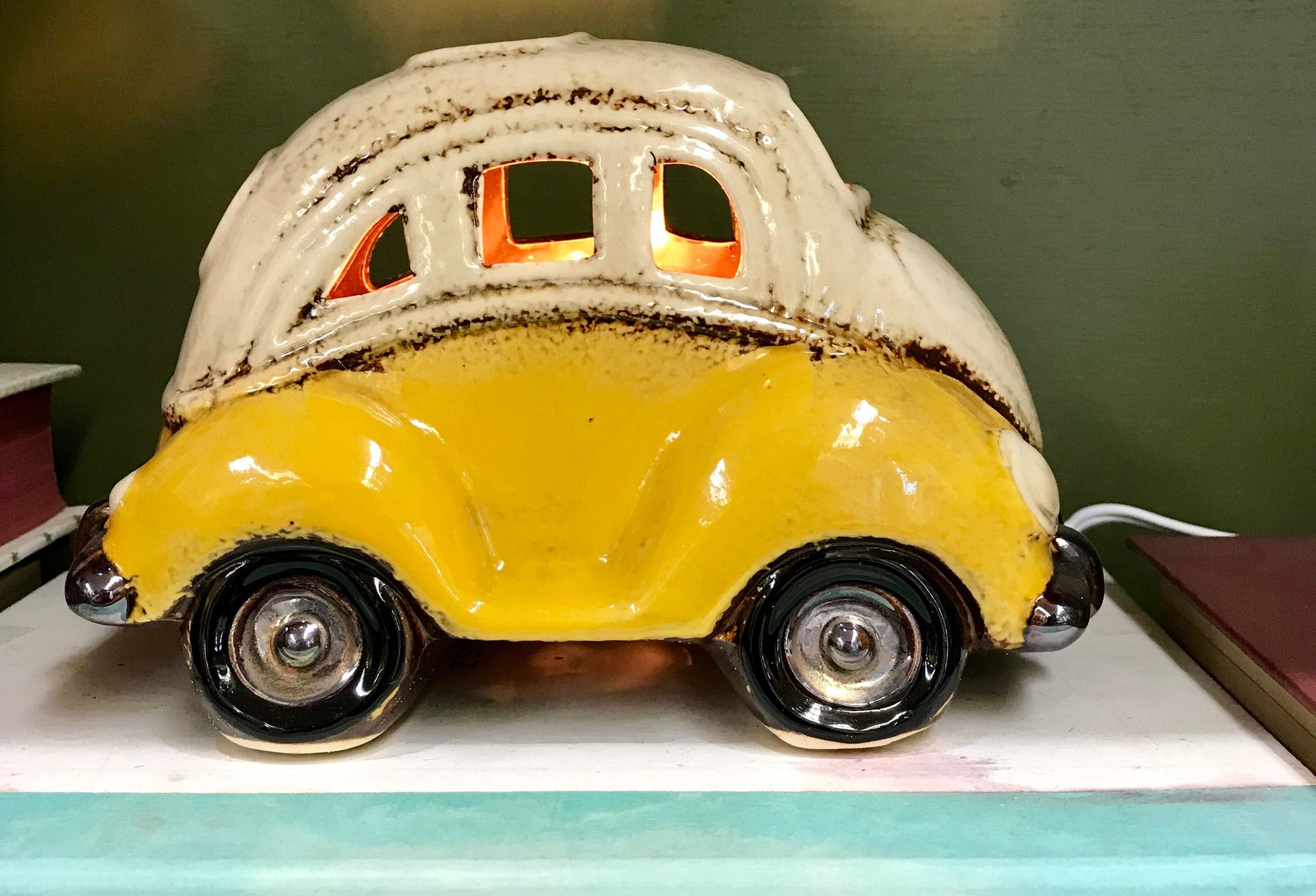 Ceramic VW Bug Nightlight