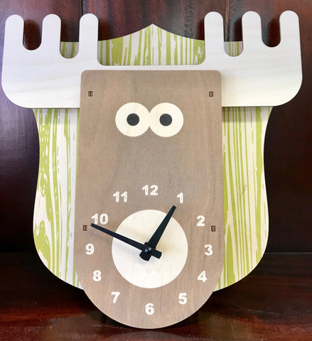 Modern Moose Wall Clock