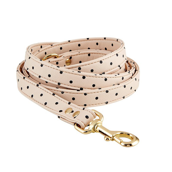 Saffiano Polka Dot Leash