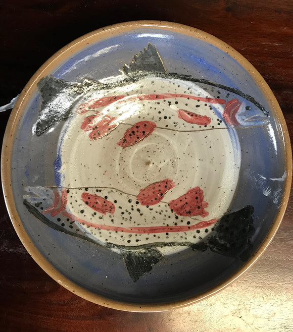 Handmade Trout Bowl Large