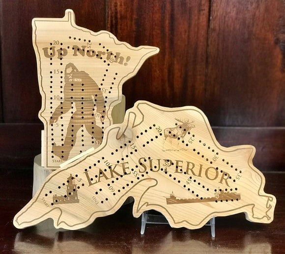 Up North Cribbage Board