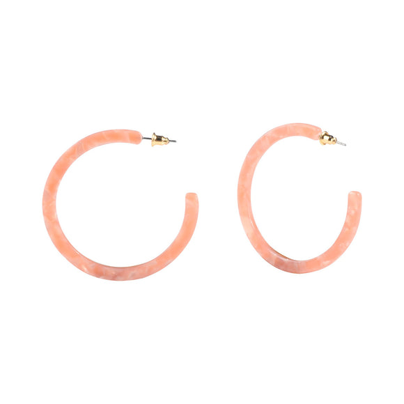 Rose Acrylic Hoops