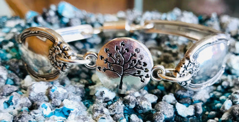 Handmade Tree of Life Spoon Bracelet