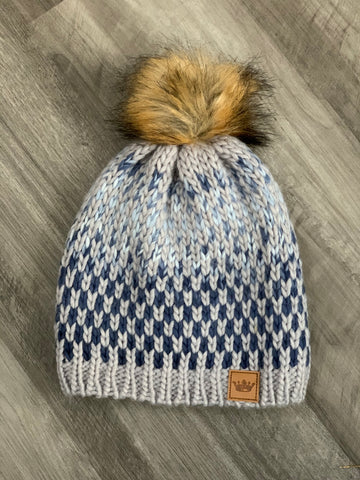 Fleece lined Ombré knit hat