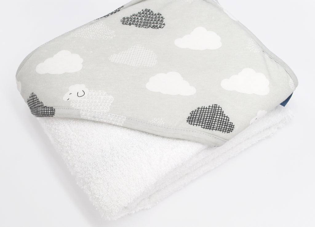 Hooded Towel - Grey Sheep