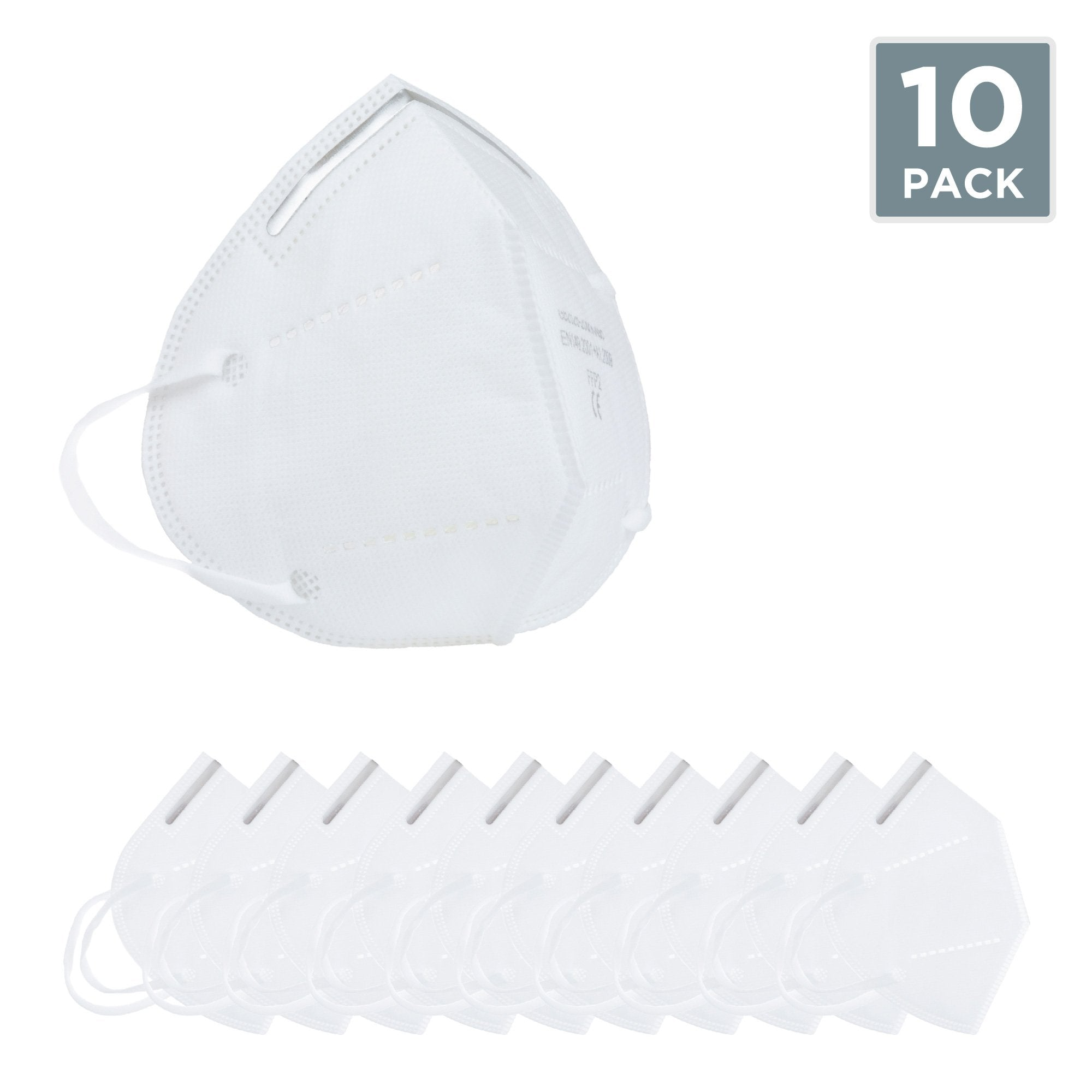 Alarms-DISPOSABLE KN95 FACE MASKS - PERSONAL USE - PACK OF 10 - UPDATED