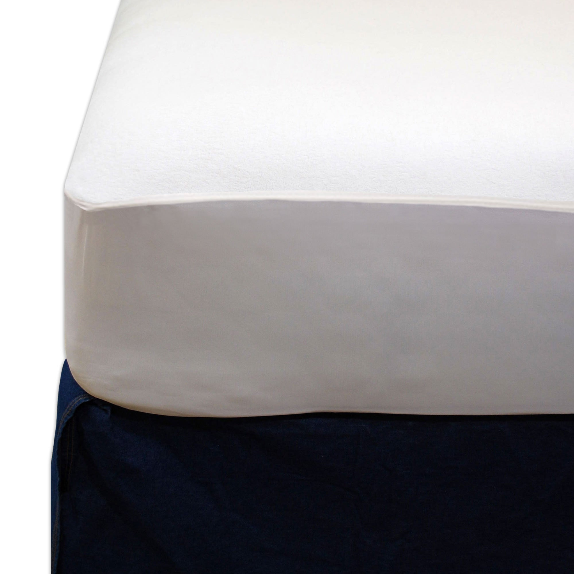 Bedding-Breathable, Waterproof Mattress Protector (Zippered, 9-15 inch depth)