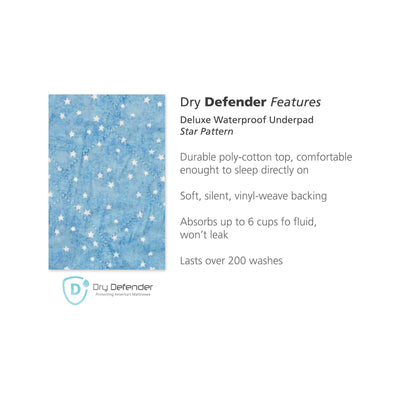 Printed Washable Underpad Star pattern