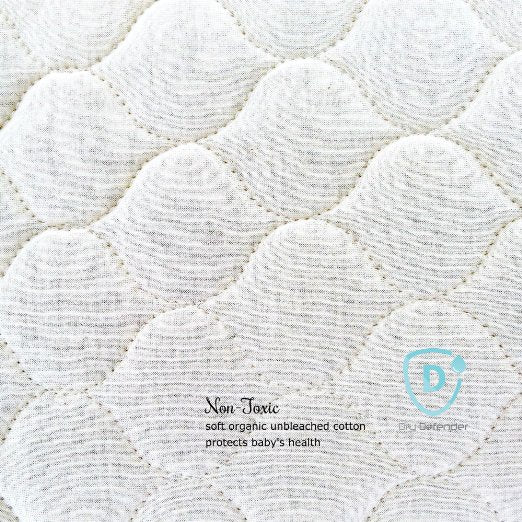 Bedding-Dry Defender Organic Cotton Waterproof Crib Pad