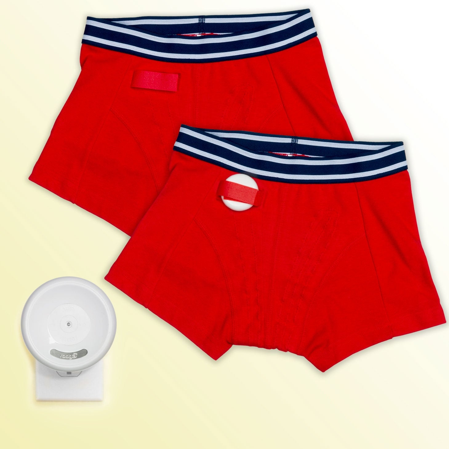 Alarms-Rodger Wireless Bedwetting Alarm System-Red Briefs only