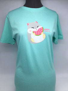 AMUSE® Hamster with Watermelon Unisex T-Shirt