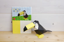 Load image into Gallery viewer, KAKUKAKU 3D Origami Paper Craft Figurine - TOCO TOUCAN